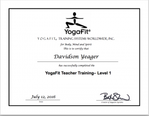 Yoga Teacher Trainings YogaFit Level 1